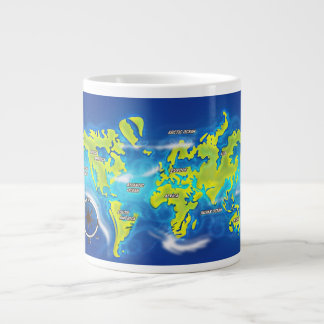 Mapa inundado de la tierra taza grande