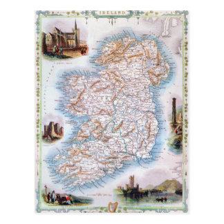 Mapa: Irlanda, 1851 Postales