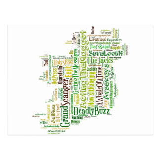 Mapa irlandés del argot tarjeta postal