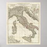 Mapa italiano clásico posters