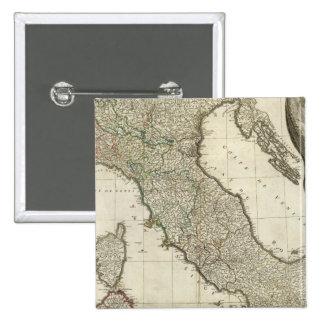 Mapa italiano pin cuadrado