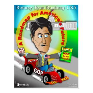 Mapa itinerario de Romney Ryan Postal