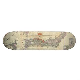 Mapa japonés 1895 de Meiji 28 de Japón imperial Patinetas Personalizadas