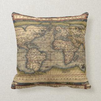 Mapa latino de la almohada del mundo