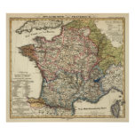 Mapa lingüístico de Francia Impresiones