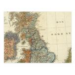 Mapa lingüístico de islas británicas tarjetas postales