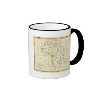 Mapa llano África Tazas De Café
