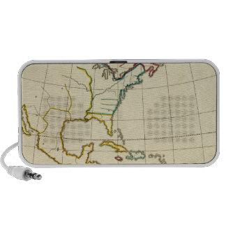Mapa llano América Altavoz De Viajar