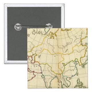 Mapa llano Asia Pin