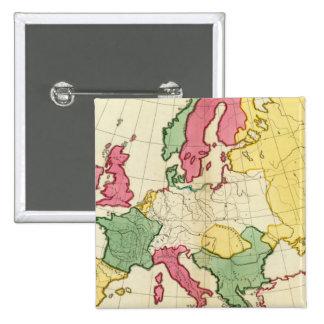 Mapa llano Europa Pins