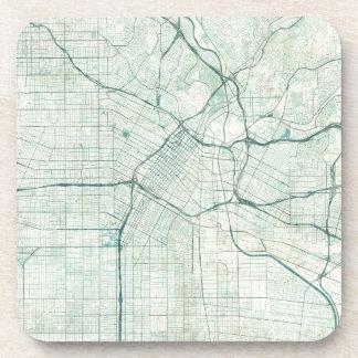 Mapa los E.E.U.U., acuarela azul de Los Ángeles Posavasos