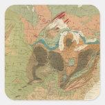 Mapa los E.E.U.U. de Geol Pegatina Cuadrada