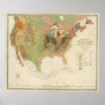 Mapa los E.E.U.U. de Geol Poster