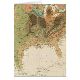 Mapa los E.E.U.U. de Geol Tarjeta De Felicitación