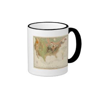 Mapa los E.E.U.U. de Geol Tazas De Café