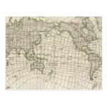 Mapa magnético del mundo postal