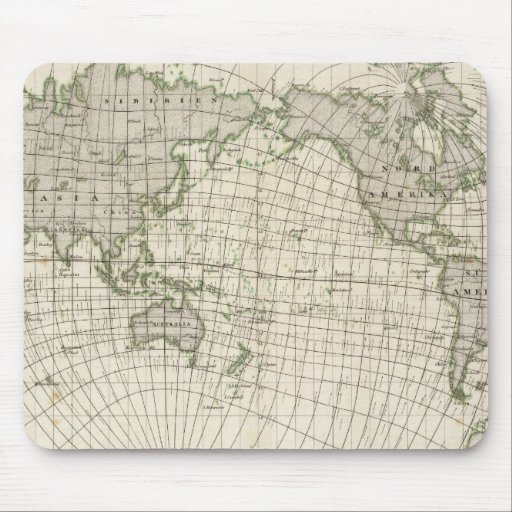 Mapa magnético del mundo tapete de ratón