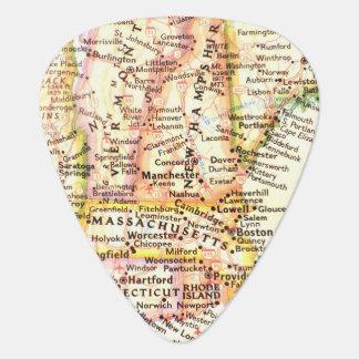 Mapa Massachusetts New Hampshire Vermont de los E. Plectro