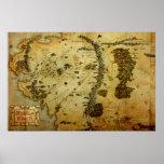 Mapa medio #3 de la tierra impresiones