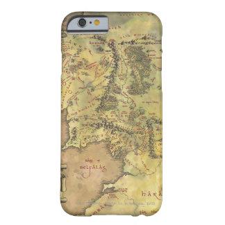 Mapa MEDIO de EARTH™ #2 Funda De iPhone 6 Barely There