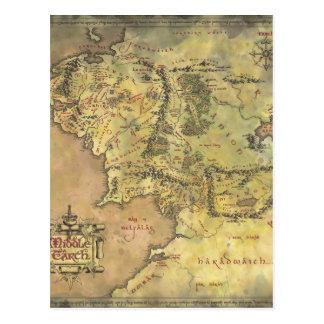 Mapa medio de la tierra 2 postales