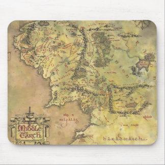 Mapa medio de la tierra 2 tapete de ratones