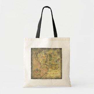 Mapa medio de la tierra bolsa tela barata