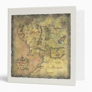 """Mapa medio de la tierra carpeta 1 1/2"""""""