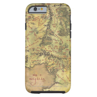 Mapa medio de la tierra funda resistente iPhone 6