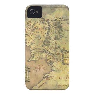 Mapa medio de la tierra iPhone 4 carcasa