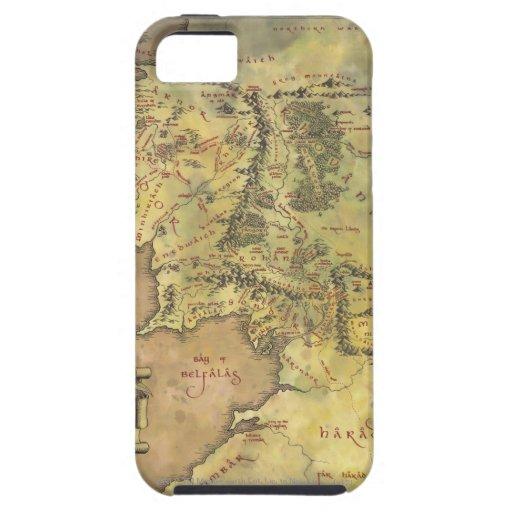 Mapa medio de la tierra iPhone 5 carcasa