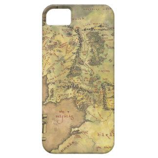 Mapa medio de la tierra iPhone 5 fundas