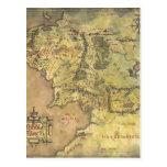 Mapa medio de la tierra postal