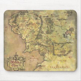 Mapa medio de la tierra tapetes de ratón