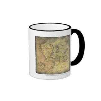 Mapa medio de la tierra taza
