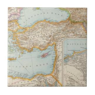 Mapa mediterráneo oriental azulejos