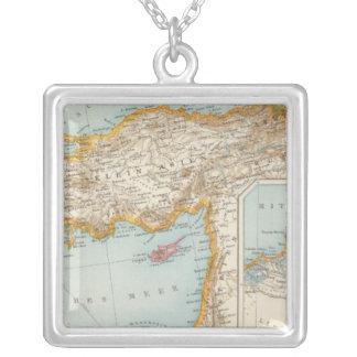 Mapa mediterráneo oriental collares personalizados