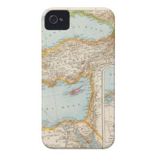 Mapa mediterráneo oriental Case-Mate iPhone 4 fundas
