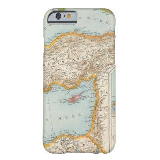 Mapa mediterráneo oriental funda de iPhone 6 barely there