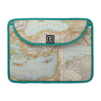 Mapa mediterráneo oriental funda para macbook pro