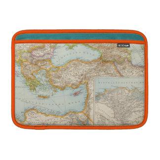 Mapa mediterráneo oriental fundas para macbook air