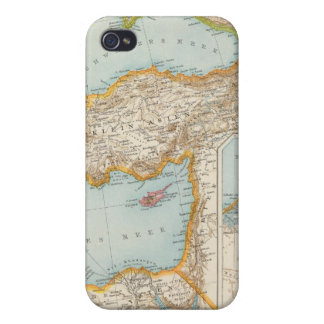 Mapa mediterráneo oriental iPhone 4 protector