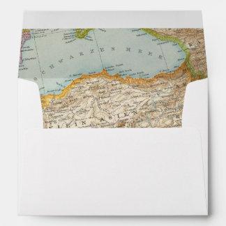 Mapa mediterráneo oriental sobre