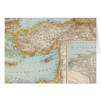 Mapa mediterráneo oriental felicitaciones