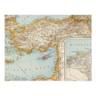 Mapa mediterráneo oriental postal