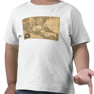Mapa meridional de Estados Unidos y de America Cen Camiseta