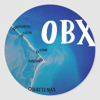 Mapa meridional de OBX Pegatina Redonda