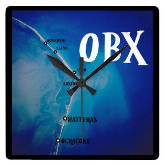 Mapa meridional de OBX Reloj Cuadrado