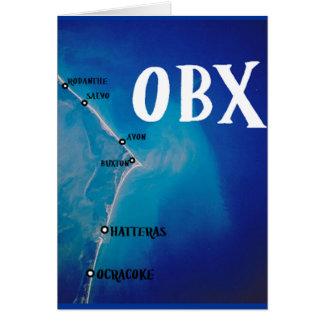 Mapa meridional de OBX Tarjeta De Felicitación