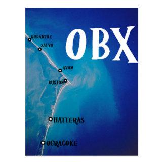 Mapa meridional de OBX Tarjeta Postal